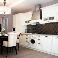 ideja piemērot neparastu stila virtuves attēlu