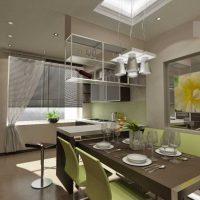 ideja izmantot spilgtu virtuves foto dizainu