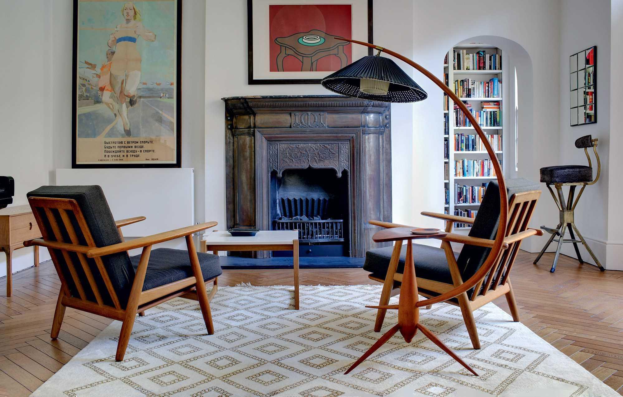 neparasta dzīvokļa dizaina variants padomju stilā