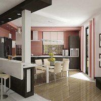 Spilgta virtuves interjera foto piemērošanas piemērs