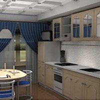 iespēja izmantot neparastu virtuves interjera fotoattēlu