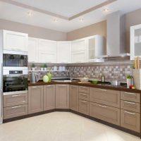 ideja par gaismas virtuves dizaina attēla pielietošanu