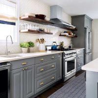 opcija viegla stila virtuves foto uzklāšanai