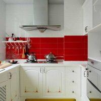 Skaista virtuves dekoru foto izmantošanas piemērs