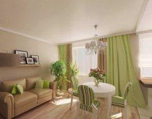 ideja par neparastu smilškrāsas kombināciju dzīvokļa fotoattēla noformējumā
