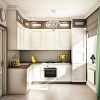 Spilgta virtuves interjera attēla izmantošanas piemērs