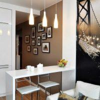 iespēja izmantot gaismas virtuves dekoru fotoattēlu