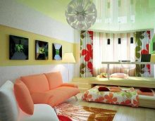 ideja par gaiša dizaina guļamistabas viesistabas attēlu