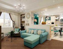 ideja par skaistu divu istabu dzīvokļa dekoru fotoattēlu
