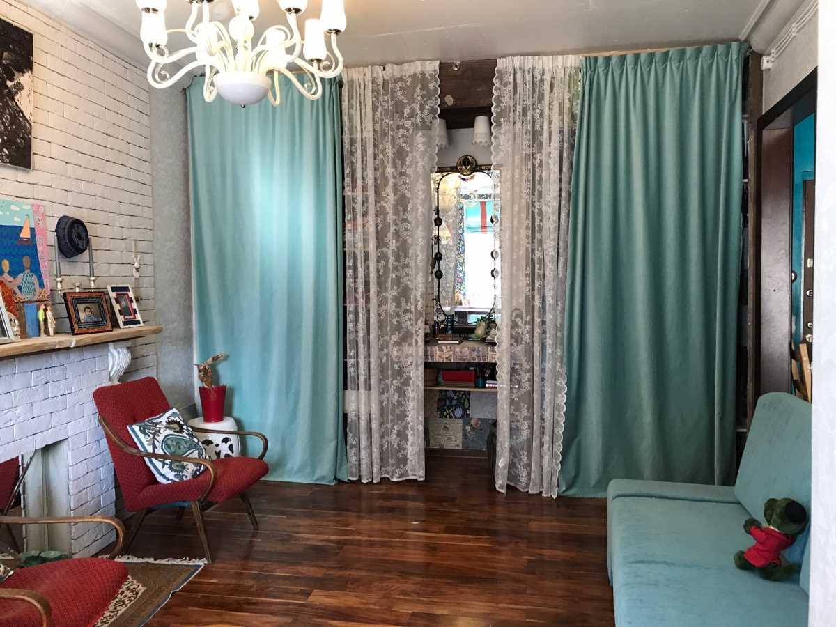 ideja par neparasto dzīvokļa interjeru padomju stilā