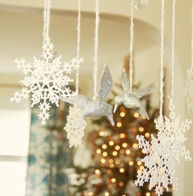 sniegpārslu dekors