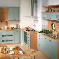 design de cuisine avec une boite de ventilation photo