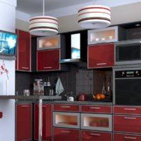 conception de cuisine avec des idées intérieures de boîte de ventilation