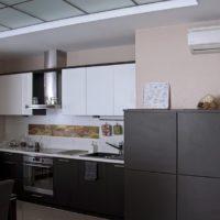 conception de cuisine avec conduit de ventilation