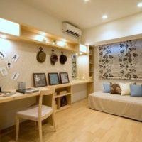 vienistabas dzīvokļa dizains