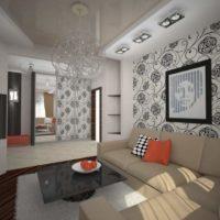 dzīvojamās istabas dizains dzīvoklī
