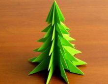Exemple de création d'un beau sapin de Noël en carton avec vos propres mains