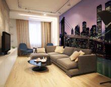 un exemple de style insolite de salon 15 m² image