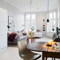 studijas tipa dzīvokļa interjers