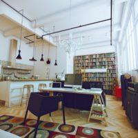 mazu dzīvokļu interjers