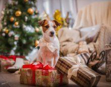 Ziemassvētku eglīšu rotājums suņa gadam