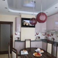 cuisine avec design de conduit de ventilation