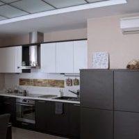 cuisine avec des idées de boîte de ventilation photo