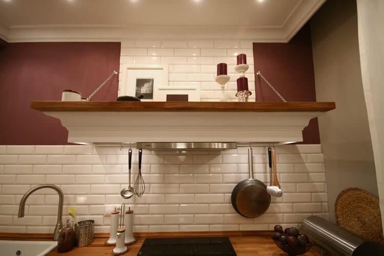 cuisine avec conduit de ventilation