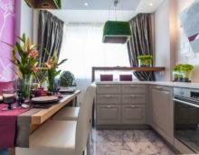 combinaison de cuisine et balcon