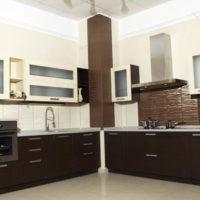 cuisine avec photo de conception de boîte de ventilation