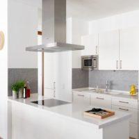 cuisine avec conduit de ventilation de style scandinave