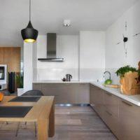 cuisine avec conduit de ventilation design moderne