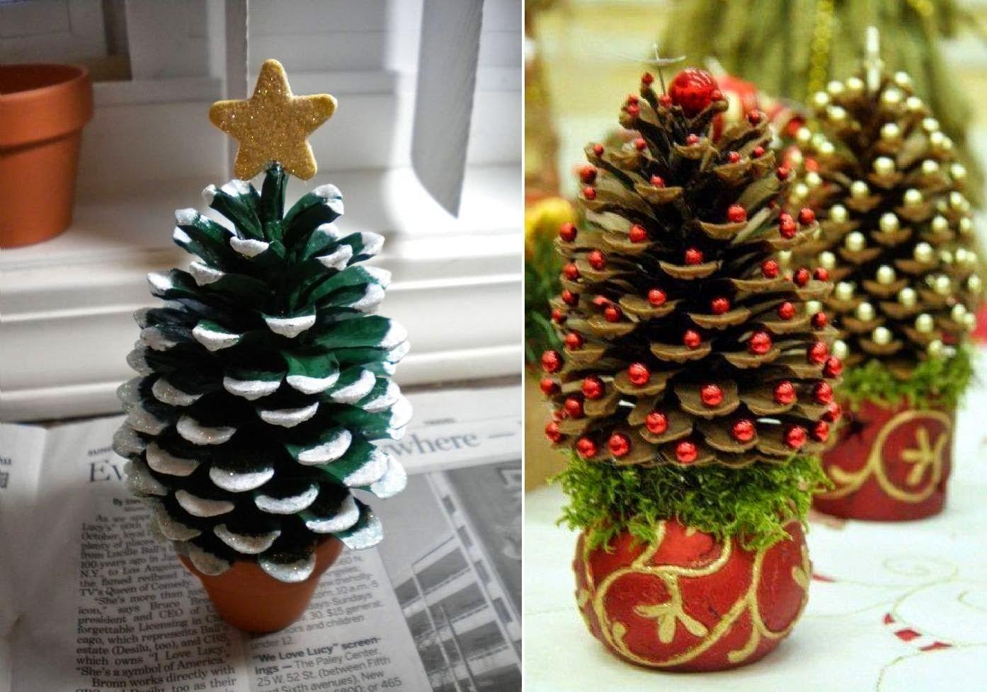 Ziemassvētku amatniecība no čiekuriem