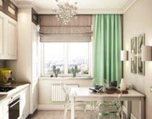 Un exemple de décor inhabituel de la cuisine est de 10 m² n série 44 photos