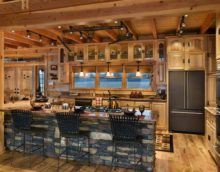 idée d'un intérieur insolite d'une cuisine dans une maison de campagne photo