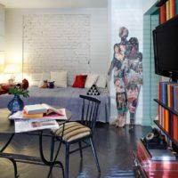 studijas tipa dzīvokļa projekts