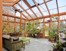 possibilité d'appliquer des idées lumineuses pour la décoration du jardin d'hiver