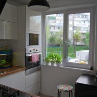 couleur blanche dans la conception de la cuisine
