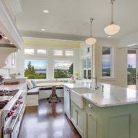 virtuves dizains ar logu