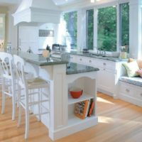 virtuves dizains ar palodzēm