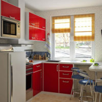 cuisine design 6 m² à Khrouchtchev