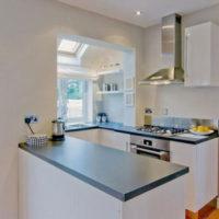 cuisine design 6 m² avec salon