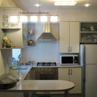 cuisine design 6 m² combinée avec le salon