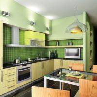 cuisine design 6 m² en vert