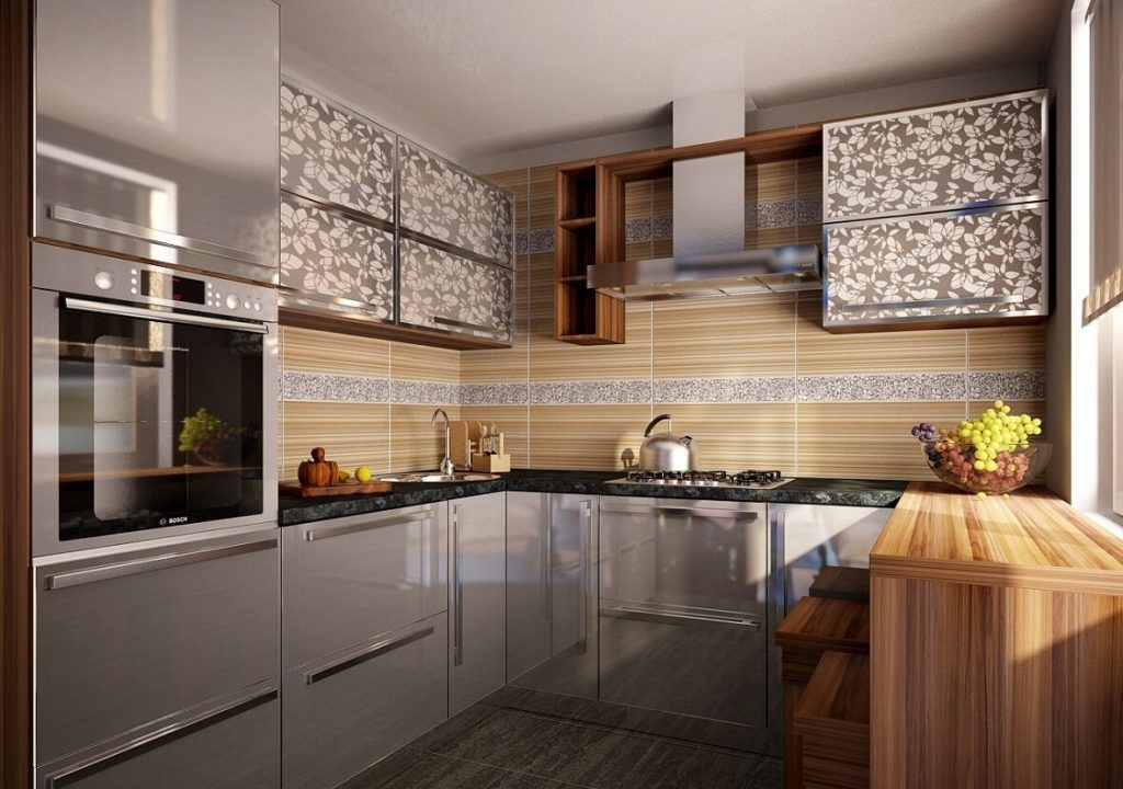 stūra virtuves komplekts