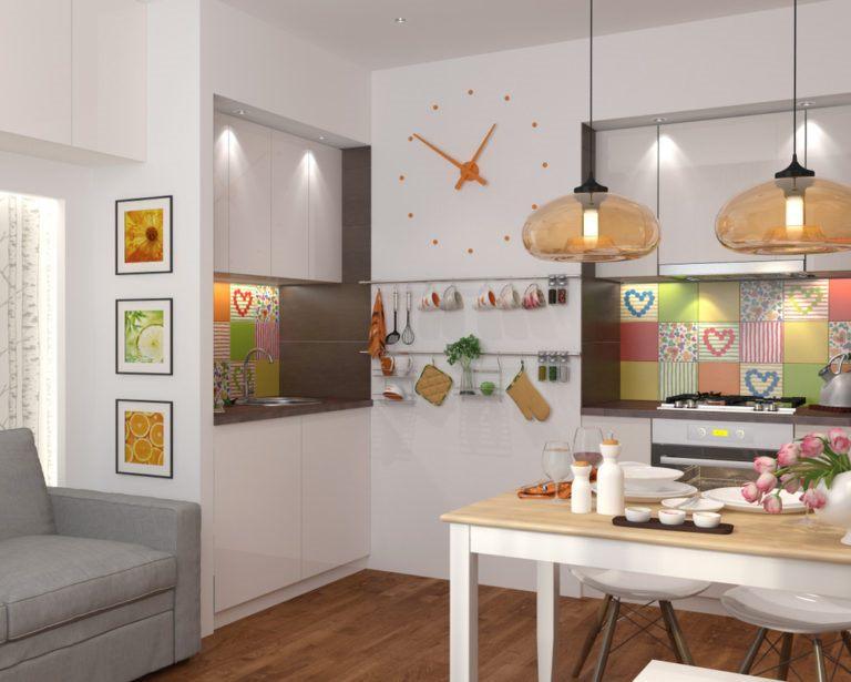 bel intérieur d'une petite cuisine