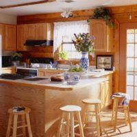 virtuves dizains ar zemniecisku logu