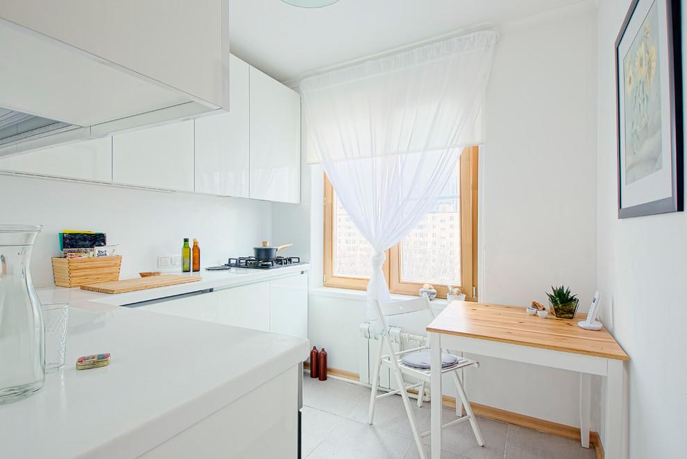 rideaux dans la cuisine 6 m²