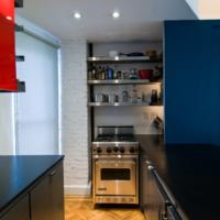 cuisine design 6 m² bleu