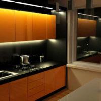 cuisine design 6 m² d'éclairage